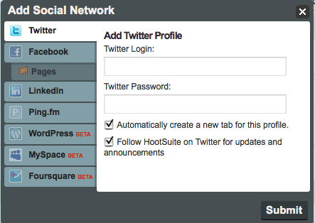Boom! Manage all of your Social Media Accounts from one site!
