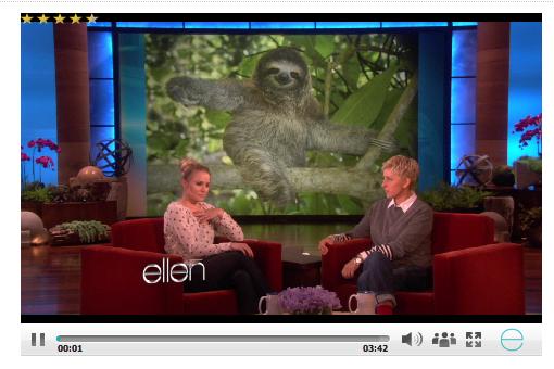 Kristin Bell's Sloth Meltdown on Ellen