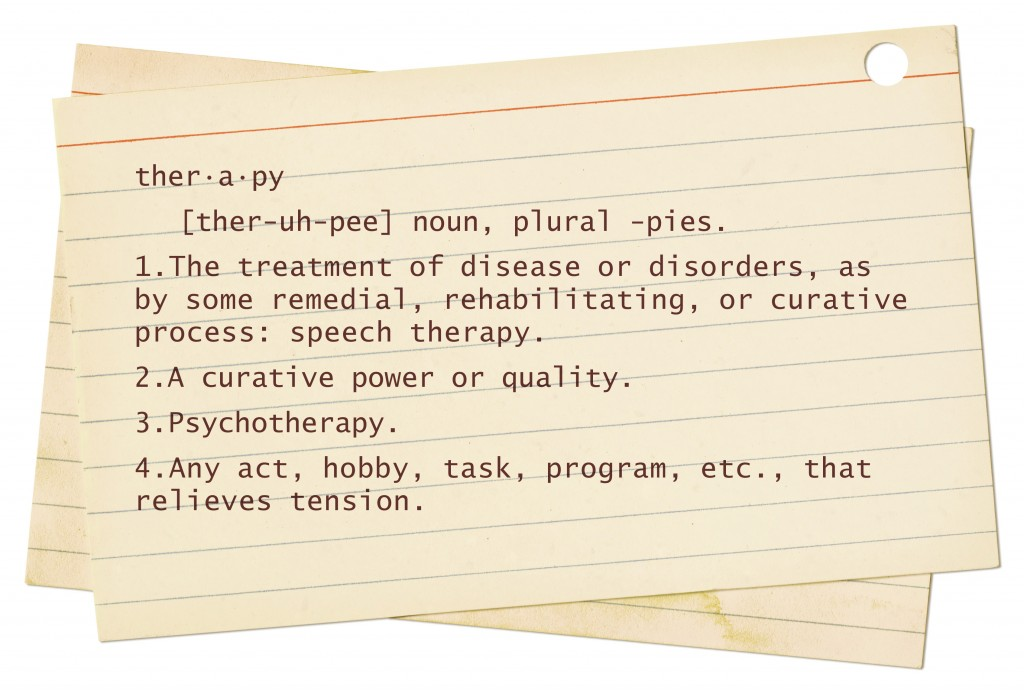 Web Marketing Therapy Definition of Therapy