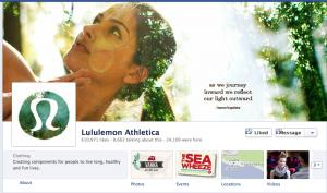 Lululemon branding