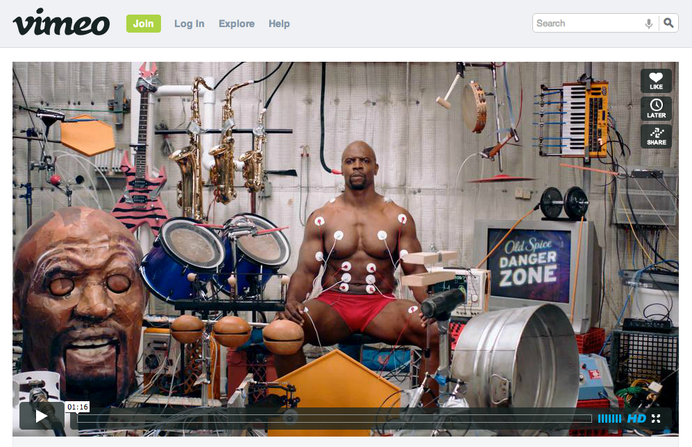 Terry Crews and Old Spice on Vimeo