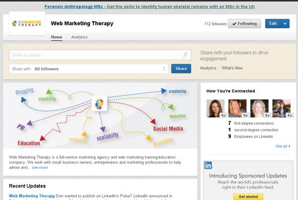 Web Marketing Therapy LinkedIn