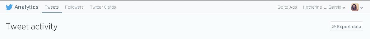 Export twitter analytics