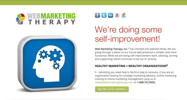 Web Marketing Therapy circa 2013