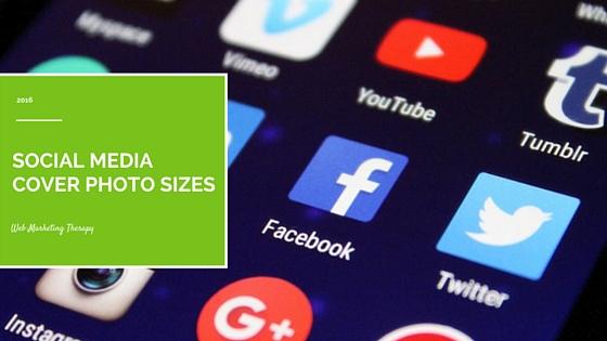 Social media cover photo sizes