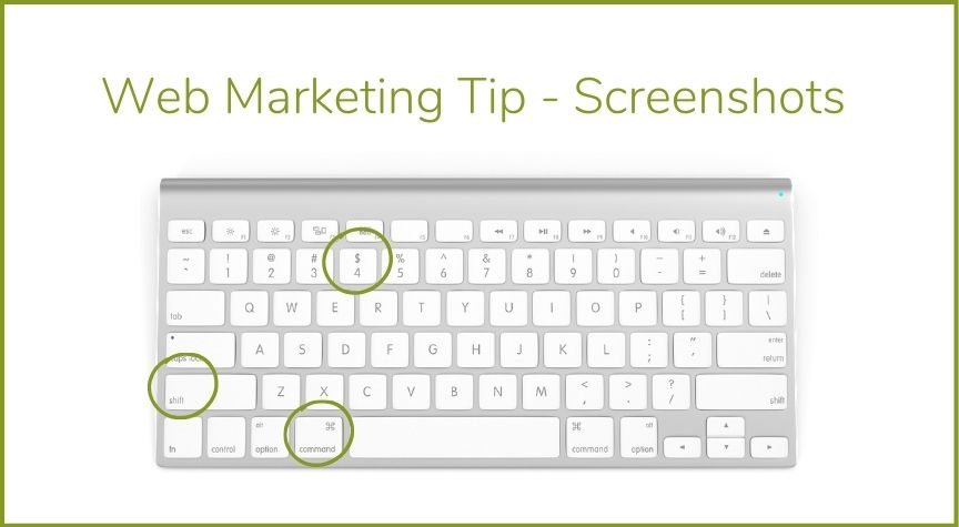 Web Marketing Tip – Screenshots