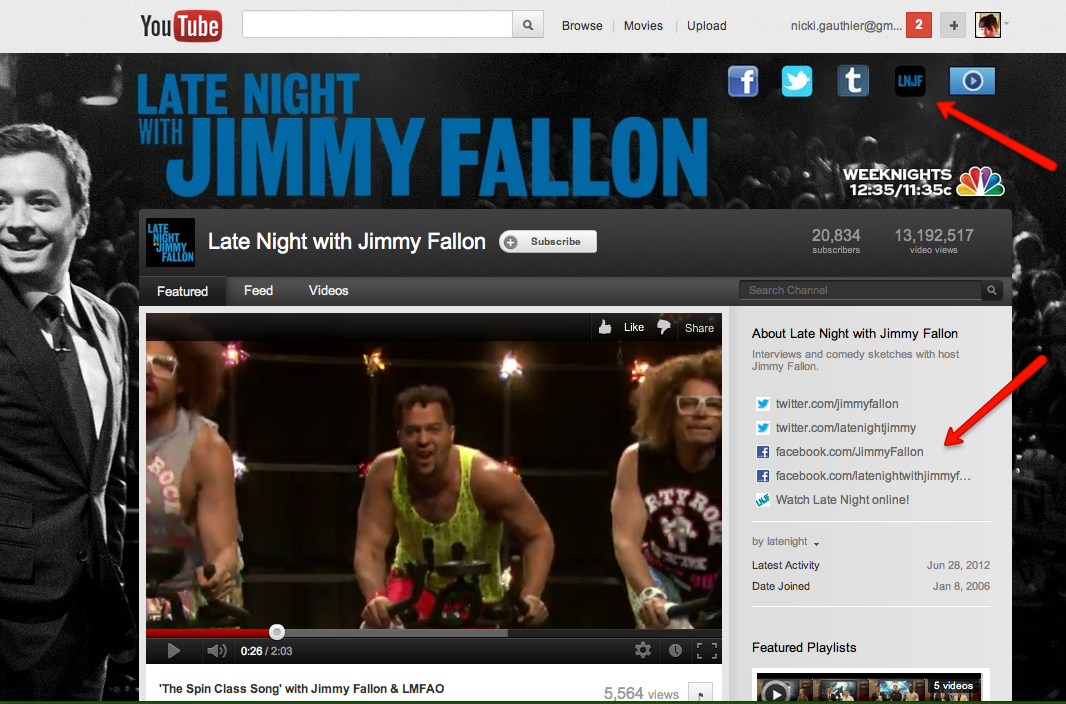 Late Night With Jimmy Fallon YouTube Channel