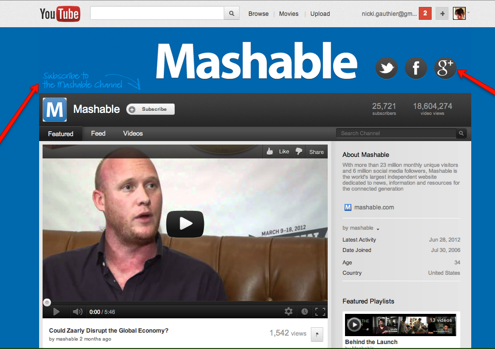 Mashable YouTube Channel