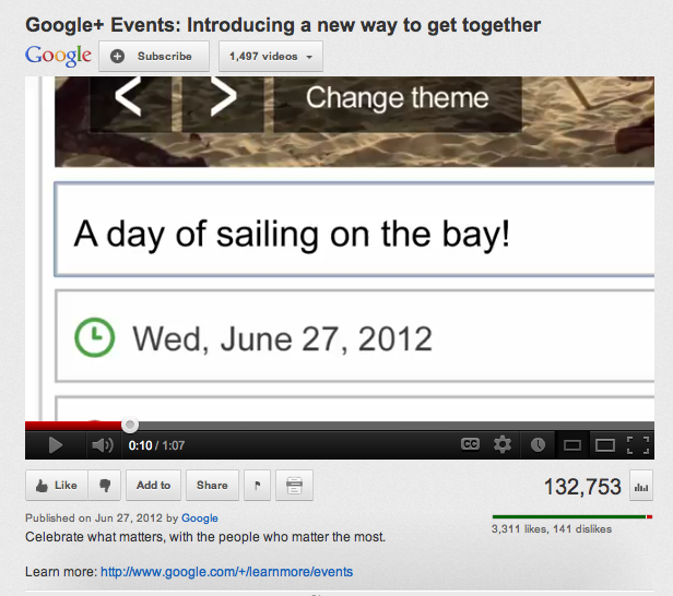 Google+ events video