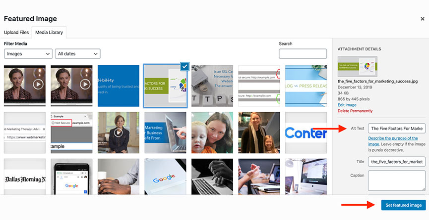 WMT Featured Image Library