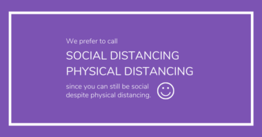 Physical Distancing does Not Mean Social Distancing